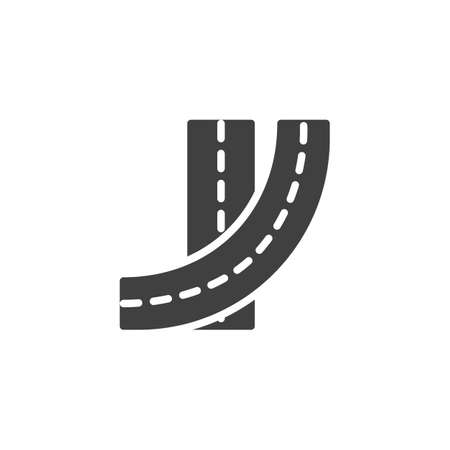 Street roads vector icon. filled flat sign for mobile concept and web design. Highway road glyph icon. Symbol, logo illustration. Vector graphics 向量圖像