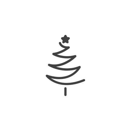 xmas tree with star vector icon. filled flat sign for mobile concept and web design. Christmas tree glyph icon. Symbol, logo illustration. Vector graphics Ilustração
