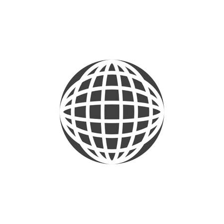 Earth globe grid vector icon. filled flat sign for mobile concept and web design. Geography globe grid glyph icon. Symbol, logo illustration. Vector graphics 向量圖像