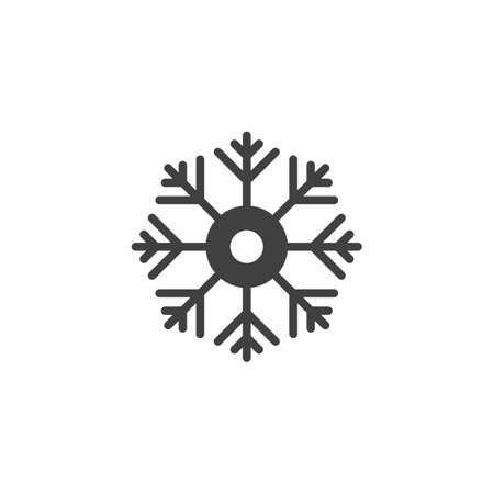 Snowflake vector icon. filled flat sign for mobile concept and web design. Snow Flake glyph icon. Symbol, logo illustration. Vector graphics