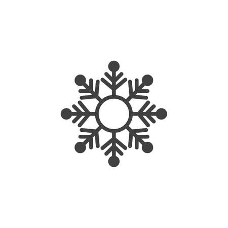 Snow Flake vector icon. filled flat sign for mobile concept and web design. Snowflake shape glyph icon. Symbol, logo illustration. Vector graphics Çizim