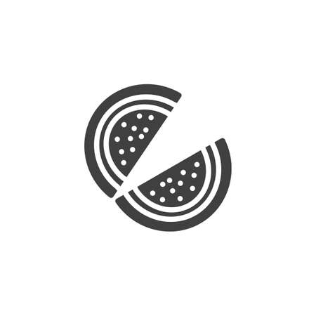 Watermelon fruit jelly vector icon. filled flat sign for mobile concept and web design. melon marmalade glyph icon. Symbol, logo illustration. Vector graphics