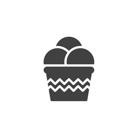 Ice cream sundae vector icon. filled flat sign for mobile concept and web design. Ice cream scoop glyph icon. Symbol, logo illustration. Vector graphics Stock Illustratie