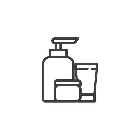 Spa cosmetics line icon. linear style sign for mobile concept and web design. Massage Cosmetics outline vector icon. Symbol, logo illustration. Vector graphics