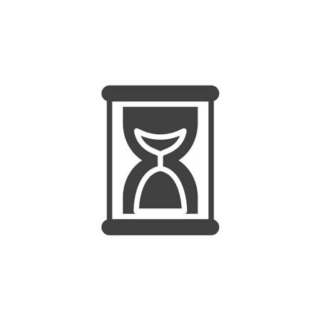 Sandglass clock vector icon. filled flat sign for mobile concept and web design. Hourglass timer glyph icon. Symbol, logo illustration. Vector graphics