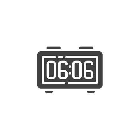 Alarm Radio Clock vector icon. filled flat sign for mobile concept and web design. Digital alarm clock glyph icon. Symbol, logo illustration. Vector graphics