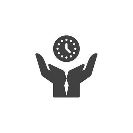 Time management vector icon. filled flat sign for mobile concept and web design. Safe time glyph icon. Symbol, logo illustration. Vector graphics Ilustrace