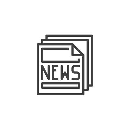 Newsletter article line icon. Press News headline linear style sign for mobile concept and web design. Newspaper page outline vector icon. Symbol, illustration. Vector graphics