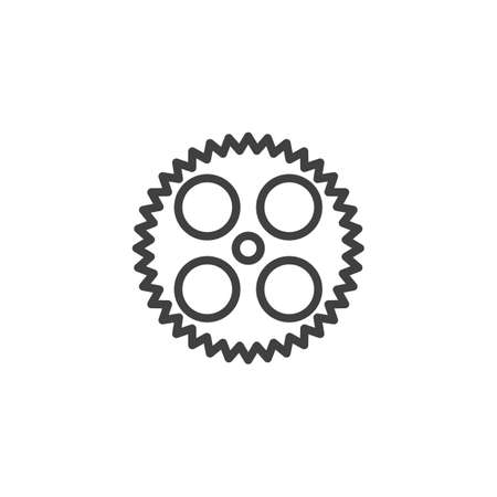 Cog gear line icon. Cogwheel linear style sign for mobile concept and web design. Gear wheel outline vector icon. Symbol,   illustration. Vector graphics 스톡 콘텐츠 - 131957618
