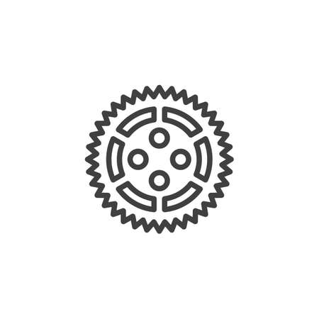 Cog gear line icon. Cogwheel linear style sign for mobile concept and web design. Gear wheel outline vector icon. Symbol,   illustration. Vector graphics 스톡 콘텐츠 - 131957734