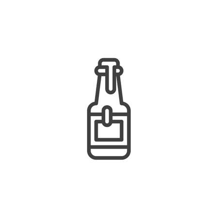 Sauce bottle line icon. linear style sign for mobile concept and web design. Ketchup or Mayonnaise bottle outline vector icon. Symbol,   illustration. Vector graphics 版權商用圖片 - 131960584