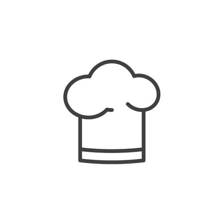 Chef hat line icon. linear style sign for mobile concept and web design. Cooking hat outline vector icon. Symbol,   illustration. Vector graphics