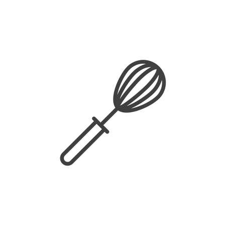 Kitchen whisk line icon. linear style sign for mobile concept and web design. Mixing beater outline vector icon. Symbol,   illustration. Vector graphics