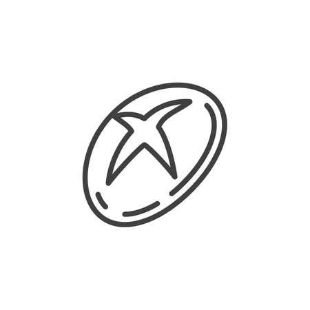Round bread line icon. linear style sign for mobile concept and web design. Baked bread outline vector icon. Symbol,   illustration. Vector graphics