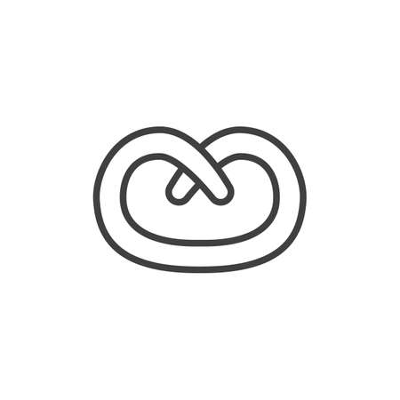 Bagel pastry line icon. linear style sign for mobile concept and web design. Bagel bun outline vector icon. Symbol,   illustration. Vector graphics