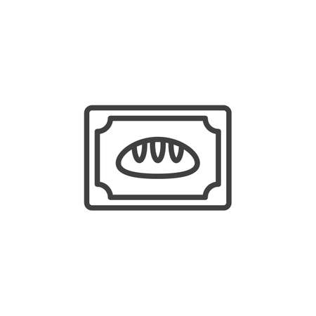 Bakery bread line icon. linear style sign for mobile concept and web design. Bread loaf outline vector icon. Symbol,   illustration. Vector graphics