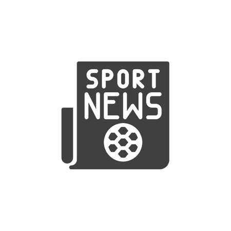 Sport newspaper icon. Football news publication filled flat sign for mobile concept and web design. Soccer news article glyph icon.