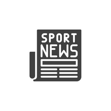 Sport news headline icon. filled flat sign for mobile concept and web design. Newspaper article glyph icon.