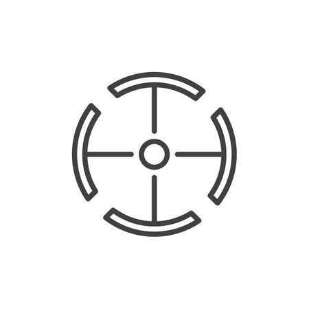 Circle target line icon. linear style sign for mobile concept and web design. Aim target outline icon.
