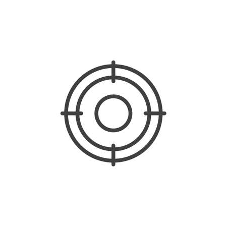 Crosshair aim line icon. linear style sign for mobile concept and web design. Sniper target outline icon.