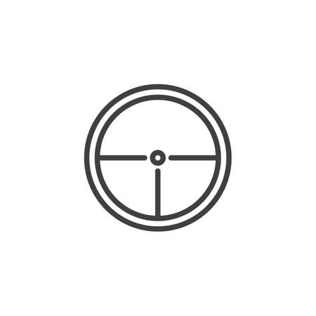 Target, aim line icon. linear style sign for mobile concept and web design. Rifle target outline icon.