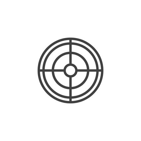 Crosshair, aim line icon. linear style sign for mobile concept and web design. Target outline icon.
