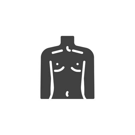 Human torso icon. filled flat sign for mobile concept and web design. Human body figure glyph icon. Illustration