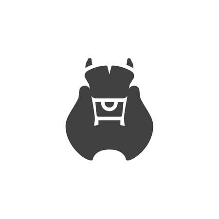 Thyroid gland icon. filled flat sign for mobile concept and web design. thyroid organ glyph icon.