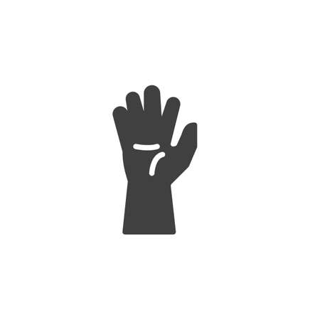 Human hand icon. filled flat sign for mobile concept and web design. Hand up glyph icon.