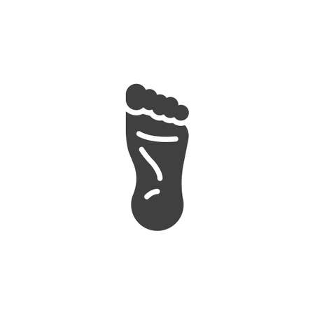 Human foot icon. filled flat sign for mobile concept and web design. human body part glyph icon. Stock Illustratie