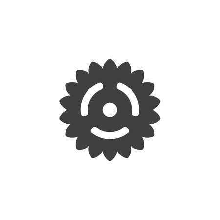 Gear wheel vector icon. Cogwheel filled flat sign for mobile concept and web design. Cog gear glyph icon. Symbol, logo illustration. Vector graphics