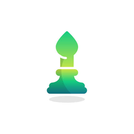 Bishop chess piece flat icon, vector sign, colorful pictogram isolated on white