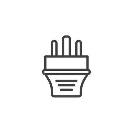 Type G electric Plug line icon. linear style sign for mobile concept and web design. Power plug outline vector icon. Symbol, logo illustration. Vector graphics