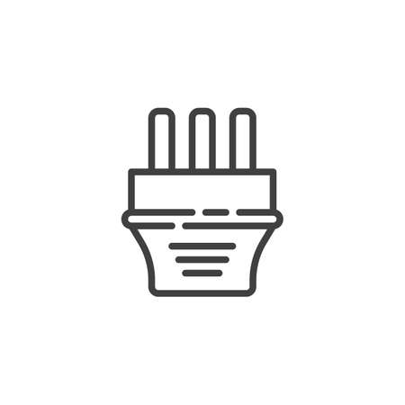 Type J electric Plug line icon. linear style sign for mobile concept and web design. Power plug outline vector icon. Symbol, logo illustration. Vector graphics Ilustrace