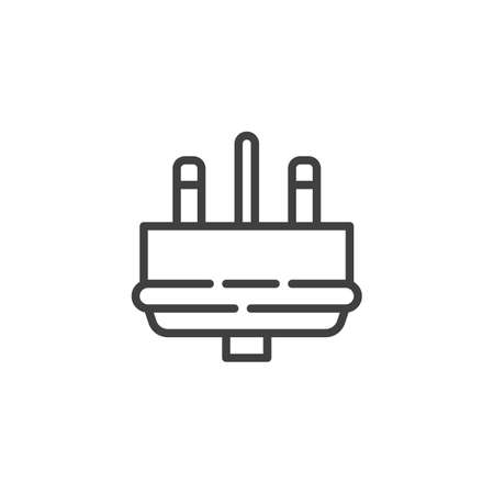 Type I electric Plug line icon. linear style sign for mobile concept and web design. Power plug outline vector icon. Symbol, logo illustration. Vector graphics Ilustrace