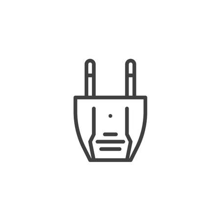 Type A electric Plug line icon. linear style sign for mobile concept and web design. Power plug outline vector icon. Symbol, logo illustration. Vector graphics Ilustrace