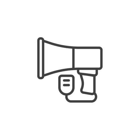 Megaphone Speaker line icon. linear style sign for mobile concept and web design. Bullhorn outline vector icon. Symbol, logo illustration. Vector graphics