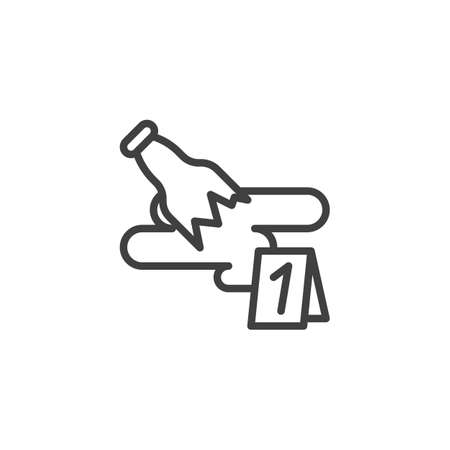 Broken Bottle-evidence line icon. linear style sign for mobile concept and web design. Crime scene investigation outline vector icon. Symbol, logo illustration. Vector graphics