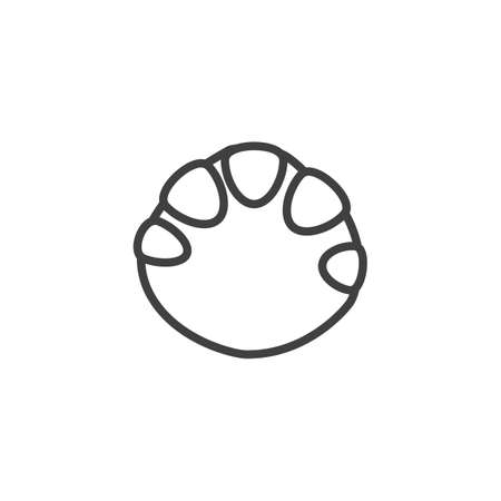 Elephant paw print line icon. linear style sign for mobile concept and web design. Elephant animal footprint outline vector icon. Symbol, logo illustration. Vector graphics