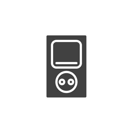 Electrical socket with power switch vector icon. filled flat sign for mobile concept and web design. Electric outlet and switch glyph icon. Symbol, logo illustration. Vector graphics