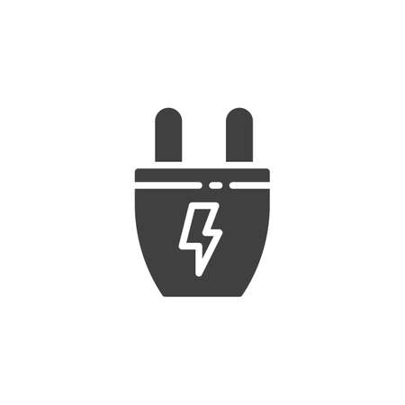 Electric plug vector icon. filled flat sign for mobile concept and web design. Power Plug energy glyph icon. Symbol, logo illustration. Vector graphics Ilustrace
