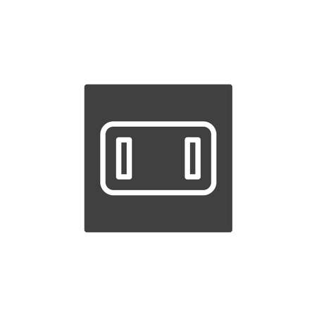 Type A power socket vector icon. filled flat sign for mobile concept and web design. Electrical Outlet glyph icon. Symbol, logo illustration. Vector graphics