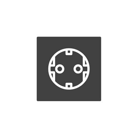 Type F power socket vector icon. filled flat sign for mobile concept and web design. Electrical Outlet glyph icon. Symbol, logo illustration. Vector graphics 일러스트