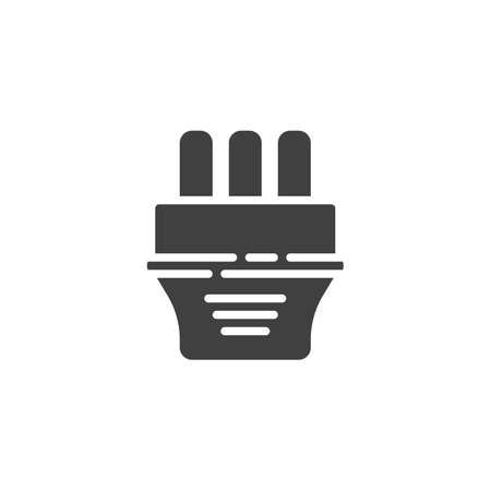 Type J electric Plug vector icon. filled flat sign for mobile concept and web design. Power plug glyph icon. Symbol, logo illustration. Vector graphics 일러스트