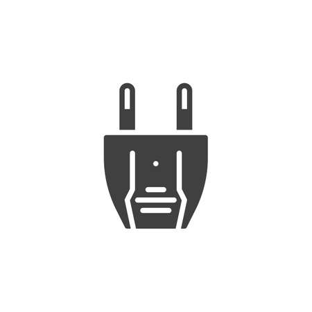 Type A electric Plug vector icon. filled flat sign for mobile concept and web design. Power plug glyph icon. Symbol, logo illustration. Vector graphics