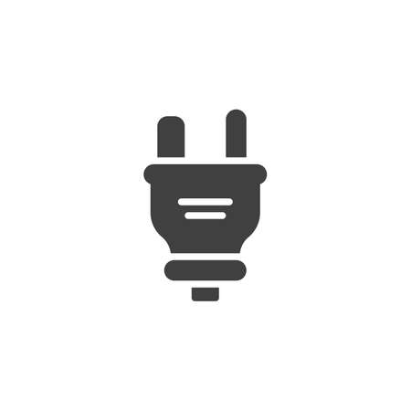 Type E electric Plug vector icon. filled flat sign for mobile concept and web design. Power plug glyph icon. Symbol, logo illustration. Vector graphics