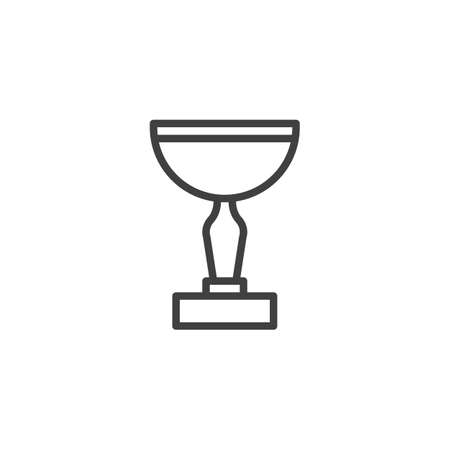 Cup award line icon. linear style sign for mobile concept and web design. Cup trophy outline vector icon. Symbol, logo illustration. Vector graphics
