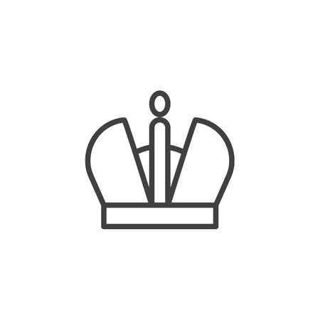 Royal crown line icon. linear style sign for mobile concept and web design. Stock Illustratie