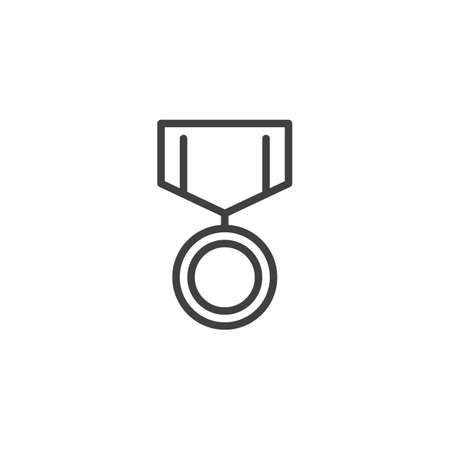 Medal badge line icon. linear style sign for mobile concept and web design.