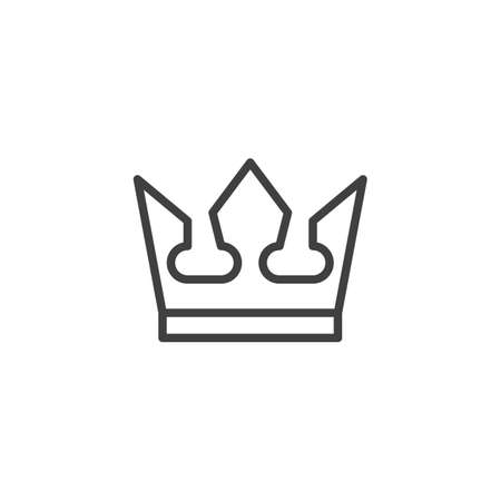 Royal crown line icon. linear style sign for mobile concept and web design. Crown outline vector icon. Success Winner Reward symbol,  illustration. Vector graphics Reklamní fotografie - 133833623